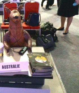 Diploroo on the Australian delegation